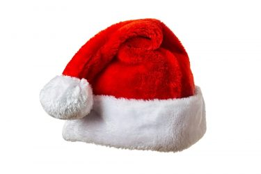 Santa hat on white